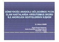 ORAL 27_Güneydoğu Anadolu Bölgesinde PCOS Olan ... - Frame