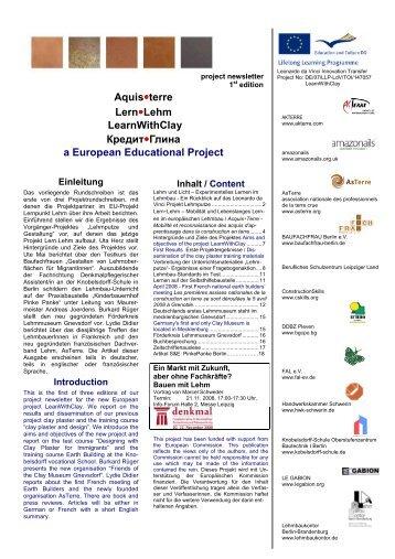 Newsletter Lern.Lehm 1st edition v5 - Lehmbau in Berlin und ...