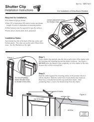 Shutter Clip Installation - Custom Shutter Company