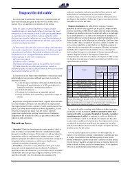 Inspección del cable - ALP Industries Inc.