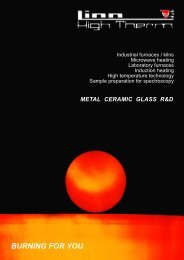 Products for ceramic and glass industries