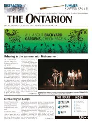 ALL ABOUT BACKYARD GARDENS, CHECK PAGE 6 - The Ontarion