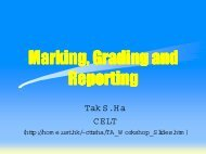 1. Marking Grading and Reporting
