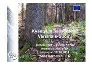 Green Care –selvitys Varsinais-Suomessa - TTS