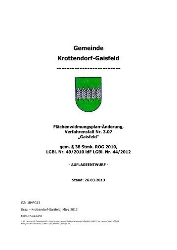 Gemeinde Krottendorf-Gaisfeld