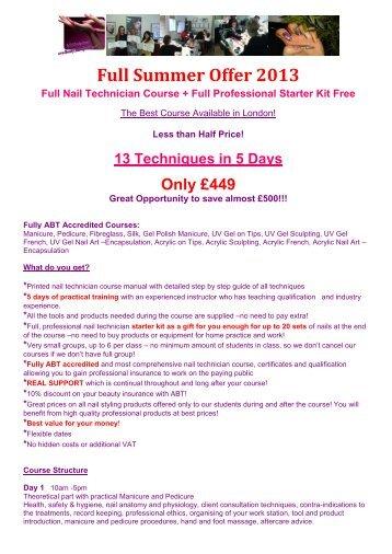 Nail Technician Courses London Free Hireability
