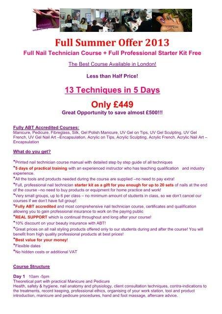 5 Days Nail Technician Courses.pdf - Beauty Training Studio