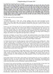 Predigt Ewigkeitssonntag, 20. November 2011
