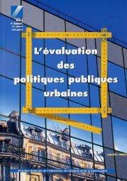 L'évaluation des politiques publiques urbaines. - Centre de ...