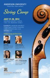 String Camp Poster - Anderson University