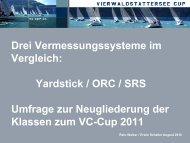 Yardstick / ORC / SRS Umfrage zur Neugliederung der ... - VC Cup