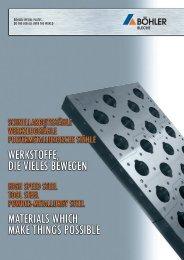 Werkzeugstahl - Tool Steel - BÖHLER Bleche GmbH & Co KG