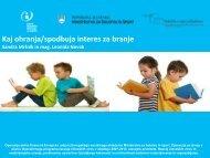 Kaj ohranja/spodbuja interes za branje (Sandra Mršnik)