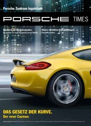 DAS GESETZ DER KURVE. - Porsche Zentrum Ingolstadt