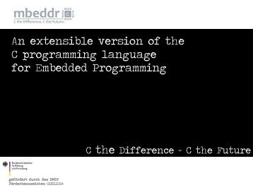 An extensible version of the C programming language for ...