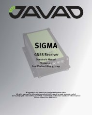JAVAD GNSS SIGMA GNSS Receiver