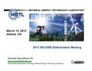 NETL's Regional Carbon Sequestration Partnerships - Southeast ...