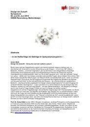 Abstracts Design der Zukunft - VDID