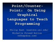 On Using Graphical Languages to Teach Programming - CSTA - ACM