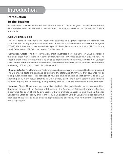 Tn Science A Closer Look Grade 3 Test Prep Workbook