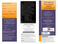 6th Annual Spring Conference - CSHA