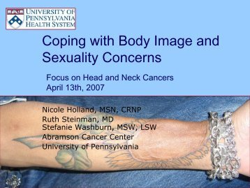 Coping with Body Image and Sexuality Concerns - Abramson ...
