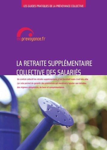 """""""La retraite supplémentaire collective des salariés"""" (PDF - 1,6 ... - CTIP"""