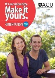 ORIENTATION - Students - Australian Catholic University
