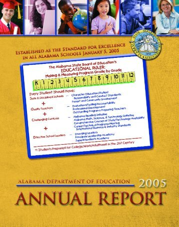 2005 SDE Annual Report - Alabama Department of Education