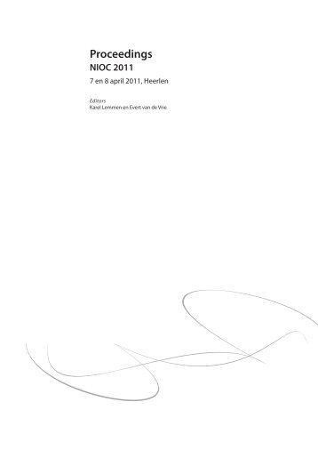 Proceedings - Toegepaste Wiskunde - TU Delft