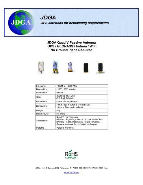 Quad V Active GPs Antenna - JDGA GPS Antennas