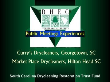 First Half - State Coalition for Remediation of Drycleaners