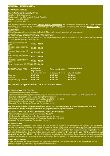 General Information for download. - CIPA 2011