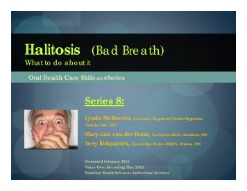 Series 8 Halitosis Bad Breath June 2012.pdf - Seniors Health ...
