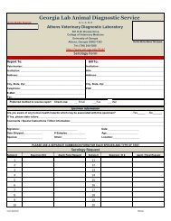 GLADS Serology Submission Form - University of Georgia College ...