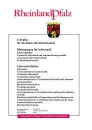 Lehrplan der Höheren Berufsfachschule ... - BBS GuT