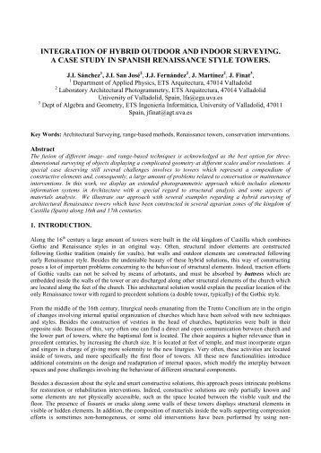 integration of hybrid outdoor and indoor surveying. a ... - CIPA 2011