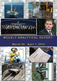 Weekly analytical report: March 26 - April 1, 2012