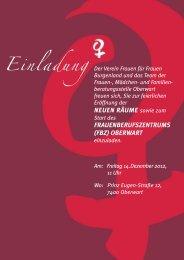 Einladung OBERWART - Verein für Frauen