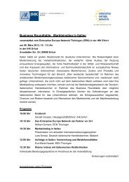 Business Roundtable: Markteinstieg in Italien