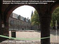 Presentatie Jeroen Roos - Provincie Zeeland