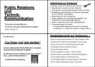 Public Relations und Technik- Kommunikation - TUM