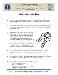 How to Buy a Used Car - LawHelpMN.org