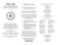 PSI CHI - UCI Cognitive Sciences