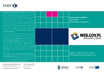 dla rozwoju Innowacyjnej Gospodarki - Web.gov.pl