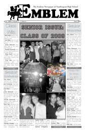 Senior Issue: Class Of 2009 - Southington Public Schools