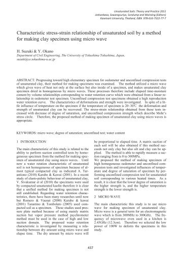 Characteristic stress-strain relationship of unsaturated soil by a ...