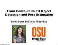 From Contours to 3D Object Detection and Pose Estimation
