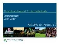Competence-based VET in the Netherlands - Martin Mulder, PhD