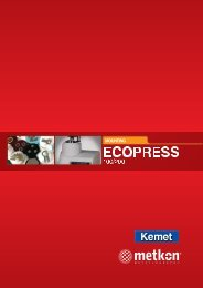 Ecopress hot mounting press complete catalogue - Kemet